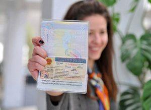 Girl with Vietnam Visa
