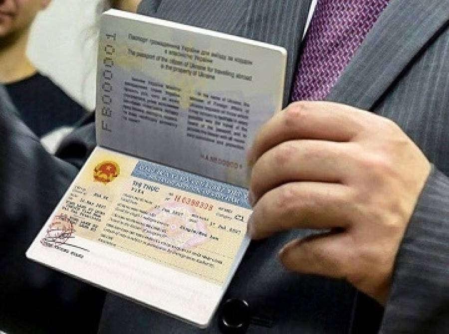 Man Holding the Vietnam visa