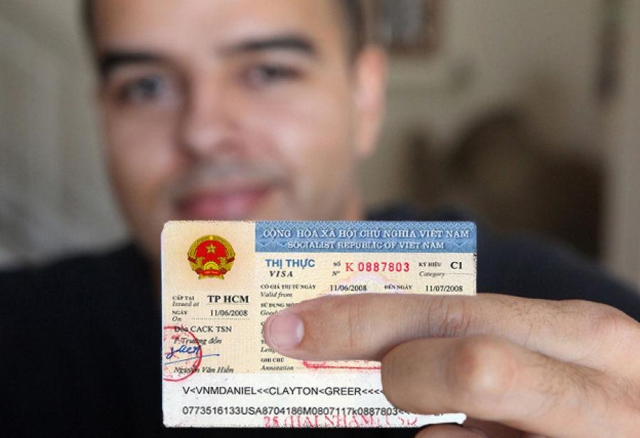 Man having vietnam visa