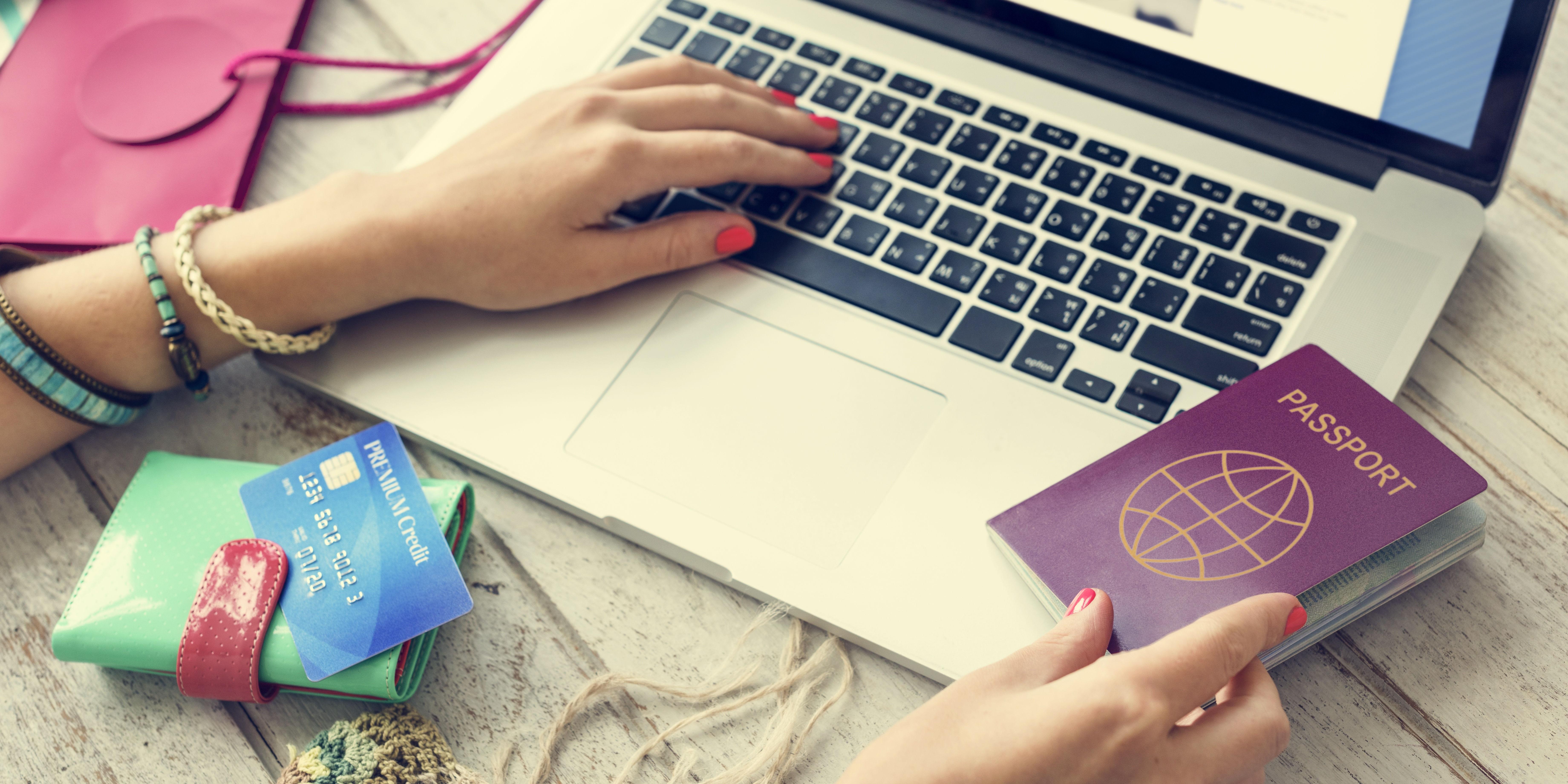 Person applying visa online