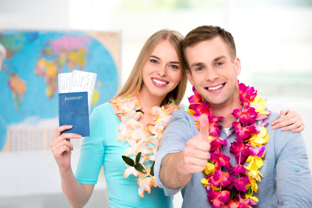 Couple with the passport