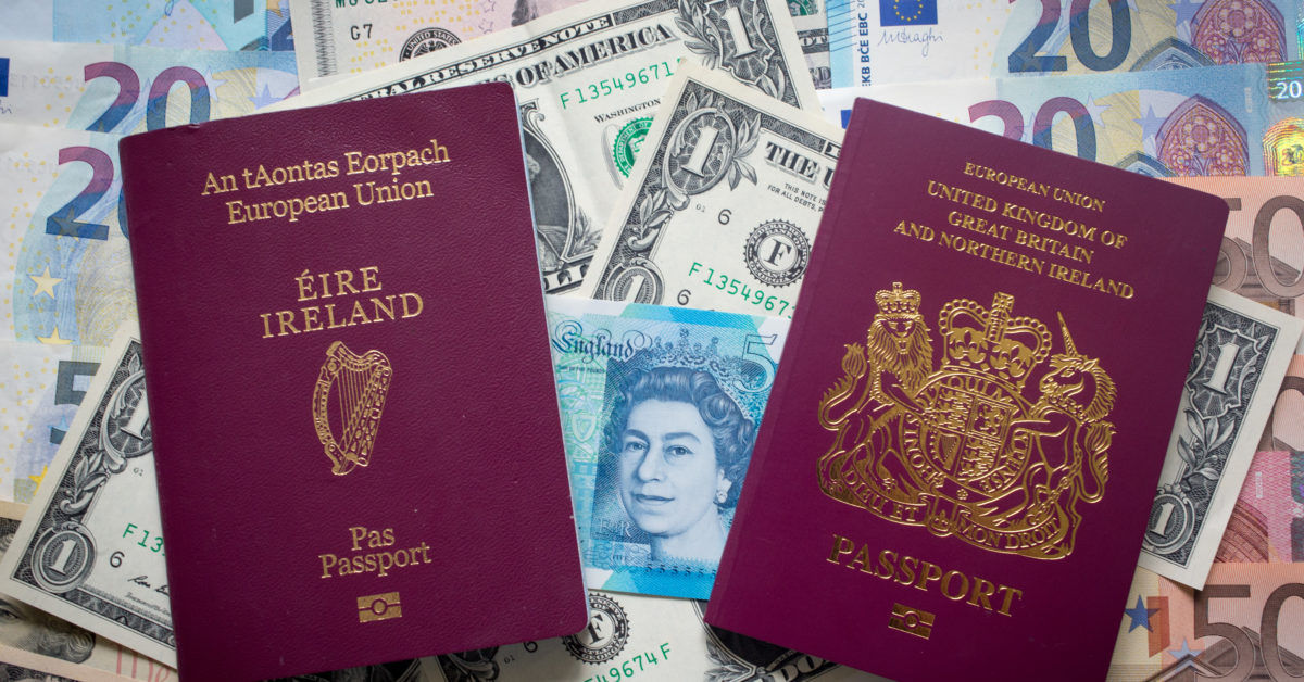 Ireland Passport and Currency