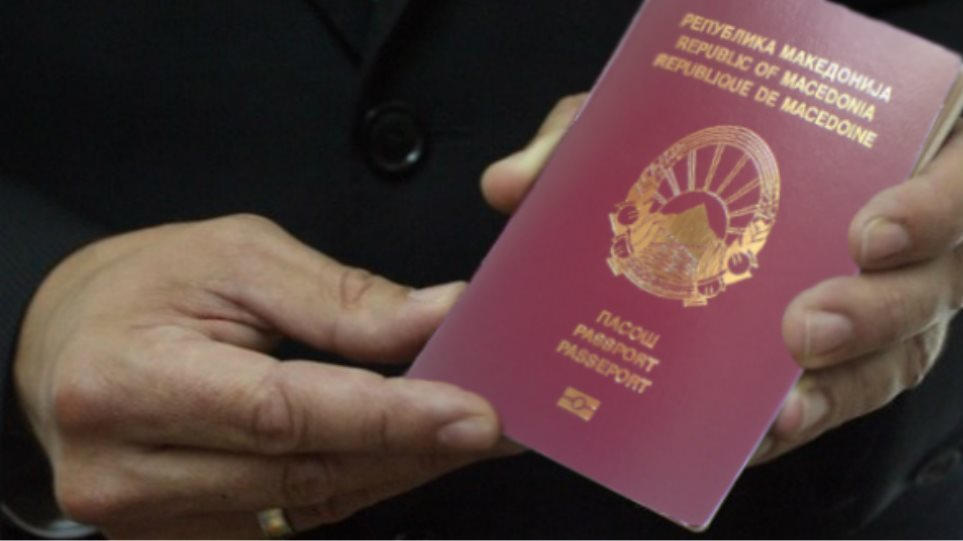 Man holding Macedonia Citizen Passport