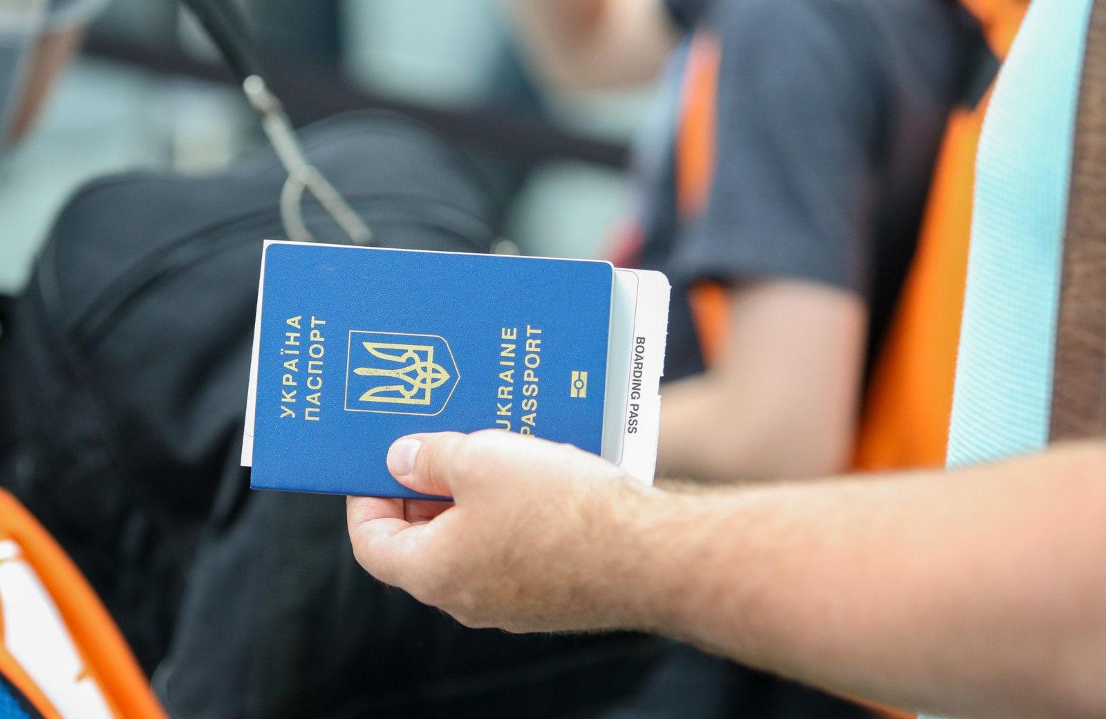 Man holding Ukraine Passport