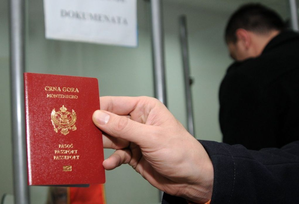 Montenegro Citizen holding the passport