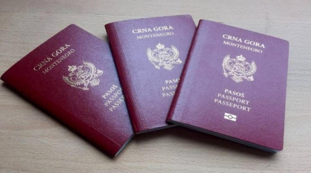 Three Montenegro Citizens Passport