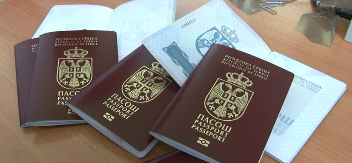 Three Serbia Passport Placed on the Table