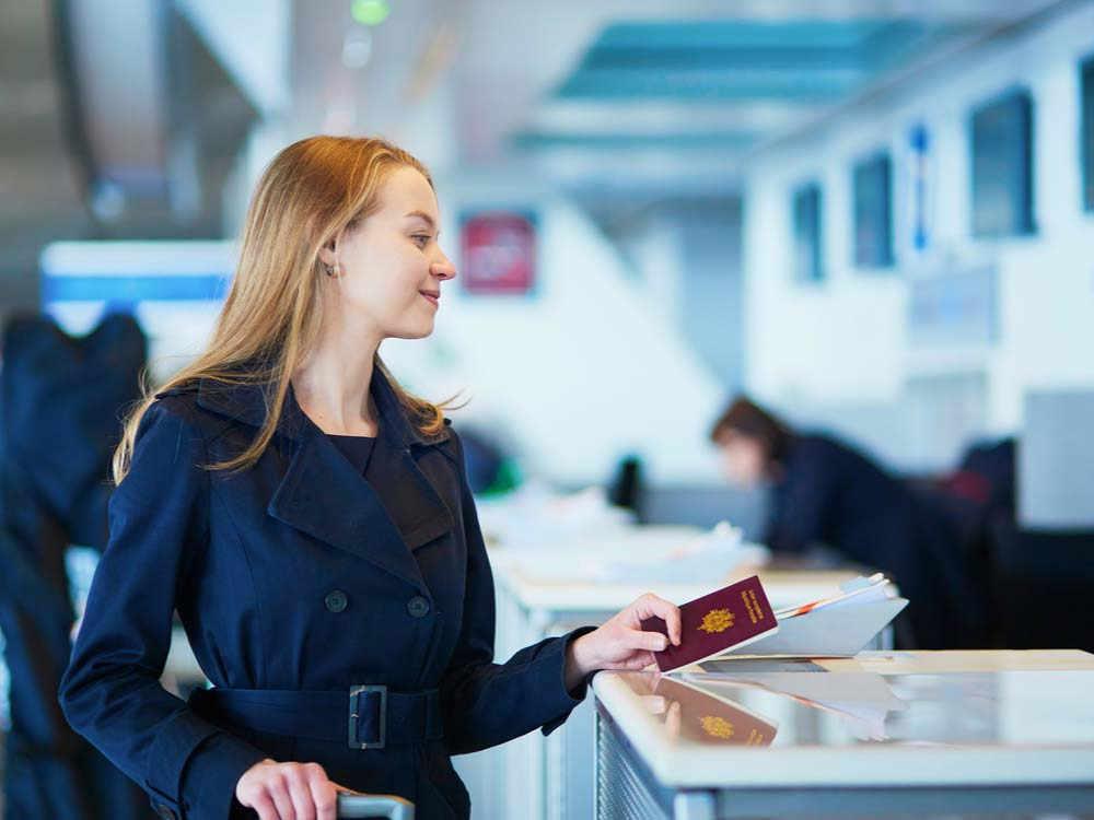 Girl checking for vietnam visa on arrival