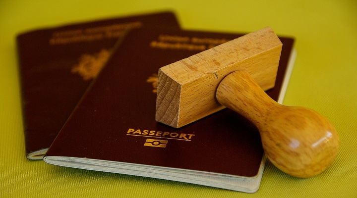 Passport with seal